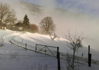 Le refuge l'hiver